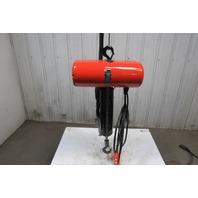 CM Lodestar  Model L 1 Ton 1Hp Electric Chain Hoist 230/460V 3Ph 18' Lift 16FPM