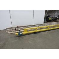 Gorbel 1 Ton Bridge Crane Work Station Free Standing 4 Post 18' Span 20'R 12'Ht