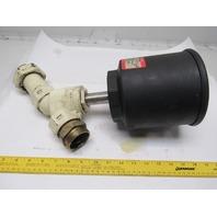 "ASCO 8290A482 1-1/2"" Brass Angle Body Piston Valve NC"