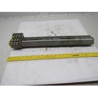 "WAGO IEC 60947-7-1 IEC 947-7-2 DIN Rail Terminal Block Strip 20A 23"" OAL"