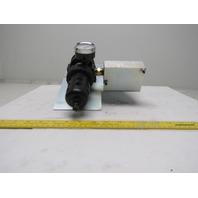 Parker 06E32A18AC Filter Regulator To 3 Way Manifold Block 150PSI