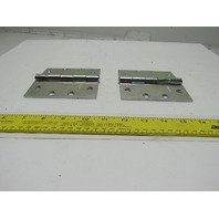 "National N140-798 4-1/2"" Non Removable Pin Flush Mount Door Broad Hinge Lot Of 2"