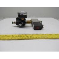 Dematic 0430090158 Airline Pressure Regulator 2 Way Solenoid Valve 24VDC Coil