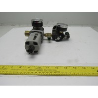 Parker P32EA92EGMBNNP Inline Air Filter Double Regulator Assembly 150PSI