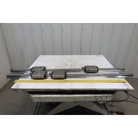 """Rexroth R185343210 57-3/4"""" Linear Rails W/2 Bearings From a SW BAS03-22 Lot of 2"""