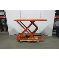 "American M-1202-3F 4000Lb Hydraulic Scissor Lift Table 72""x 36"" Top 8""-52"" Lift"