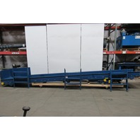 "21' Slide Bed Conveyor Center Drive 24"" Belt 7.15 To 44.25 FPM 208-230/460V 3 Ph"