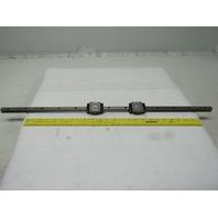 """Rexroth R165111420 (2) Linear Guide Bearing Blocks W/30-1/2"""" Rail"""