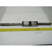 """Rexroth R162229420 (2) Linear Guide Bearing Blocks W/23"""" Rail"""