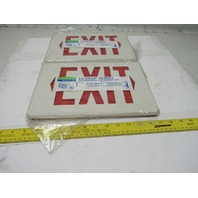 Dual Lite FK-BPR EZ-Snap Exit Sign Double Face Conversion Kit Lot Of 2