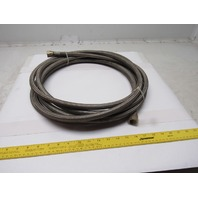 25' Stainless Steel Braided Teflon Line/Hose  AN10 W/Straight Fittings