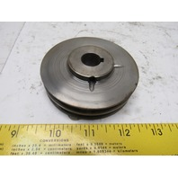 "Rapistan 404830-2 3-1/4"" OD 2 Groove Drive Band Pulley 5/8"" Bore"