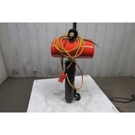 "CM Lodestar Model RR 2 Ton Electric Chain Hoist 20' 3"" Lift 16FPM 240/480V 3PH"