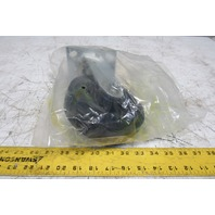 """Equiprite 6"""" x 2"""" Rubber On Cast Iron Swivel Caster 4x4.5"""" Plate Mount"""