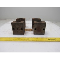 "1-1/4"" ID Brass Bushing Bearing Block Greaseable DIY Press Lot Of 4"