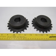 """#50 Single Row Roller Chain Sprocket 21T 1-3/8"""" Bore Lot 2"""
