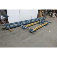 Gorbel 1 Ton Ceiling Mounted Bridge Crane 10' Span x 20' Run W/Push Pull Trolley