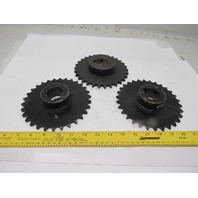 """H50B30F #50 Single Row Roller Chain Sprocket 1-7/16"""" Bore Lot Of 3"""