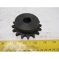"""#50 Single Strand Roller Chain Sprocket 17T 7/8"""" Bore Lot Of 2"""
