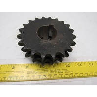 """#50 2 Row Roller Chain Sprocket 20T 1-1/2"""" Bore"""