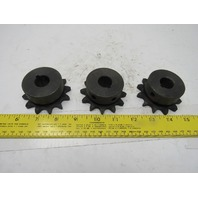 """#50 Single Row Roller Chain Sprocket 12T 3/4"""" Bore Lot Of 3"""