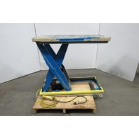 "Bighamon Vision VIS65-36 6500Lb Scissor Lift Table 48x24"" 120V 9"" to 43-1/4"" HT"