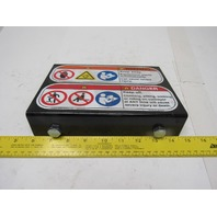 Work Area Conveyor Production Line Safety Warning Metal Placard Sign