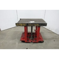 """Industrial Manual Hydraulic Lift Cart  36"""" x 24"""" Table 35"""" to 59"""" Lift"""