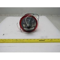 Federal Signal 225-120R Electraray Red Rotating Beacon Alarm Light 120VAC