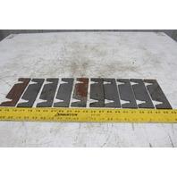 "Dematic 3/16"" Upper & Lower Sorting Conveyor Crossmember Floor Shim Lot Of 10"