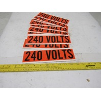 "Brady Cat 44110 240 Volts Electrical 9"" x 2-1/2"" Conduit Marker Lot Of 10"