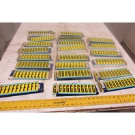 "Brady 3440 2"" Black On Yellow Repositionable  Marker Alphabet Huge Lot See Info"