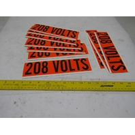 "Brady 44106 9"" x 2-1/4"" 208 Volts Conduit Marker Sticker Lot Of 10"