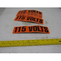"9"" x 2-1/4"" 115 Volts Conduit Marker Sticker Lot Of 23"