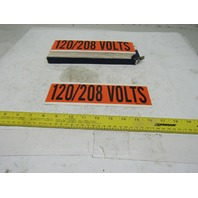 "Brady 44159 9"" x 2-1/4"" 120/208 Volts Conduit Marker Box Label Lot Of 25"