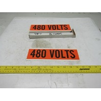 "Brady 44115 9"" x 2-1/4"" 480 Volts Conduit Marker Box Label Lot Of 16"