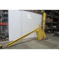 """1/4 Ton Capacity Free Standing Jib Crane 10' Swing 120"""" Under Beam"""