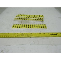 "Brady 1/2"" x 9/16"" Black On Yellow Number 7 Marker Sticker Lot Of 13 Cards"