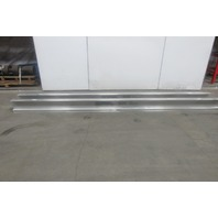 "Gorbel Monorail 13' 6"" Aluminum Enclosed Runway Beam Track 500lb Cap. Lot of 2"
