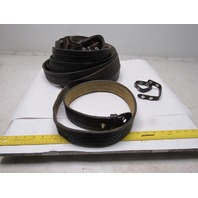 "Misc Police Duty Basketweave Leather Gun Holster Belts 2-1/4"" Lot of 11"