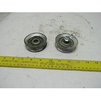 "2-3/4"" OD V-Belt Idler Pulley 12mm Bearing Bore Lot of 2"