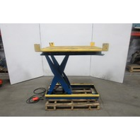 "Vision VIS-25-36 2500 LB Scissor Lift Turn Table 48""x48"" Top 9""-45"" Ht. 460V 3ph"