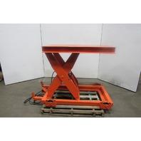 """Presto 6000Lb. Cap Hydraulic Scissor Lift Table 48x28"""" Top 7-1/4""""-43"""" Ht. 460V"""