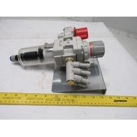 "SMC AW40-04C-A 0.05-0.7MPa Inline Filter Regulator W/ Quick Exhaust 1/2"" Ports"