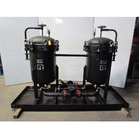 Rosedale D24303F1150CBNPB Steel Duplex Vessel 6 Pot Filter Strainer Basket