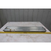"2-1/2"" OD 35.5"" BF 34-7/8"" Face Gravity Conveyor Roller 7/16"" Hex Axle Lot Of 3"