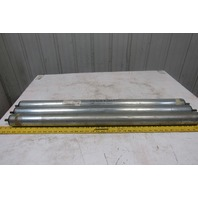 "2-1/2"" OD 37"" BF 36.5"" Face Gravity Conveyor Roller 7/16"" Hex Axle Lot Of 3"