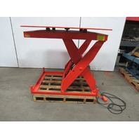 "LEE X3W36-40-MOD 3500Lb Hydraulic Scissor Lift Table 48x48"" Turn Top 115V 1Ph"