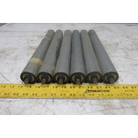 "Dematic 1-7/8"" OD x 16"" BF Gravity Conveyor Roller 7/16"" Hex Axle Lot Of 6"