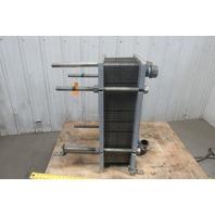 """API Schmidt Industrial Thermal Plate Heat Exchanger 53 Plates 2""""NPT 150PSI"""